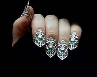 Finger Claw Nail Art Filigree Armor Jewelry