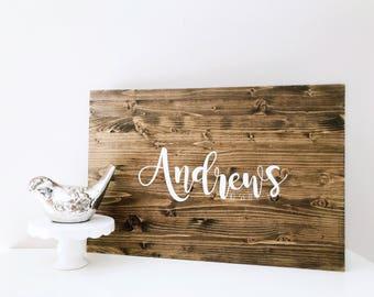 Wood Name Sign   Guestbook Alternative   Wedding Sign   Wedding Decor