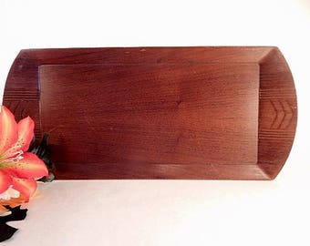 Tray Charcuterie Board Vintage 1960s Toastmaster Brown Wood Grain Hospitality Serving Tray TV Snack Tableware Mid-Century Home Entertaining