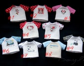 2 T-SHIRTS+JEANS for 1/8 bjd doll