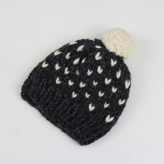 Toddler Fair Isle Knit Pom-Pom Hat THE Little INVERNESS in