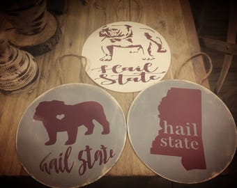 MSU and Mississippi ornaments