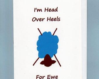 Greeting Card / I'm Head Over Heels for Ewe