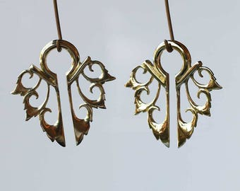 Brass ear wights   body jewelry, bali styles floral