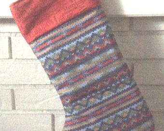 Quilted Christmas Stocking - free shipping in North America