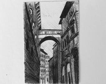 Print 'Florentine Bridge'