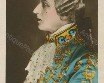 Russian silent film actor I. Mozzhuhin in Kasanova RPPC