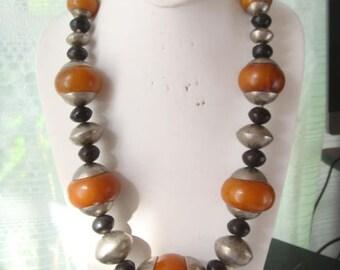 Vintage Faux Amber Bakelite Necklace