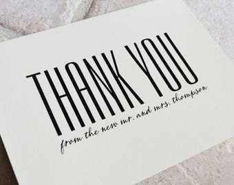 30 Thank You From The New Mr Mrs Note Card - Simply Vogue