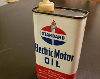 Vintage oil can etsy for Electric motor oil lubrication