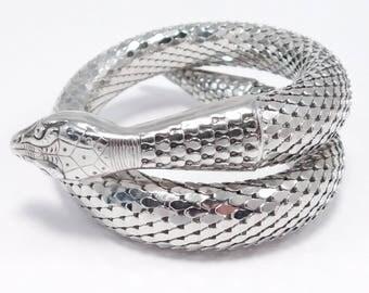 Whiting And Davis Mesh Coiled Snake Bracelet Vintage