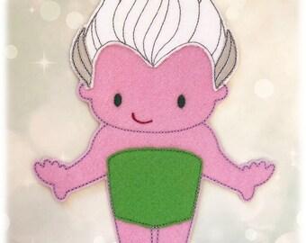 Ursula the Sea Witch Felt Paper Doll Toy Digital Design File - Husky
