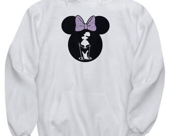Disney Minnie Mouse Haunted Mansion Hoodie Gift Stretching Tightrope Love Disneyland Fan Sweatshirt