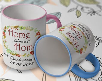 New homeowner our first home gift ideas, homeowner gift, first house gift ideas, homeowner mug, new home personalized home sweet home CM1001