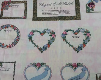 Quilt label for purchased quilts