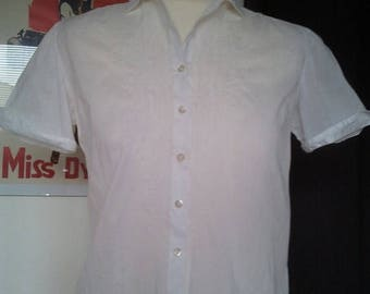 ON SALE LOWER Price Cute little white cotton shirt blouse 1950 S Xs
