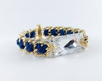 EVERYDAY BASIC - Crystal Bracelet in Navy