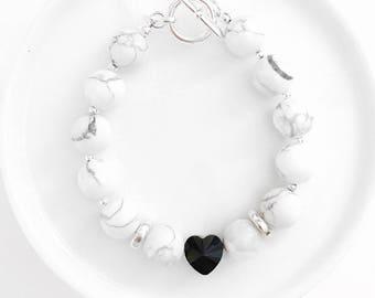 Marbled Heart Bracelet