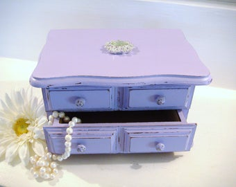 Purple jewelry box Etsy