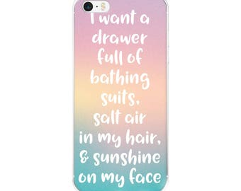 Beach Quote iPhone Case - Pink Phone Case - Blue Phone Case - iPhone Cases