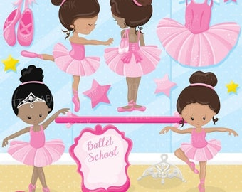 80% OFF SALE Ballerina ballet class clipart commercial use, vector graphics, digital clip art, digital images - CL896