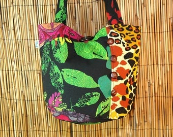 Small fabric Patchwork collection Lidia shoulder tote bag
