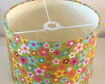 Sale Spring floral Drum  lampshade
