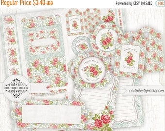ON SALE Digital Scrap Cards, Envelops, Tags. Set of 12. Printable download.