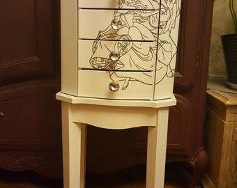 Standing jewelry armoire | Etsy