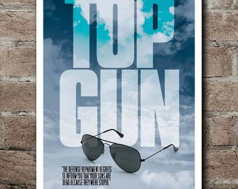 TOP GUN Movie Quote Poster