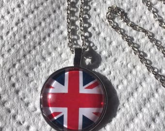 Union Jack Cabochon Necklace