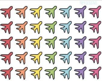 Little Rainbow Airplanes || Planner Stickers