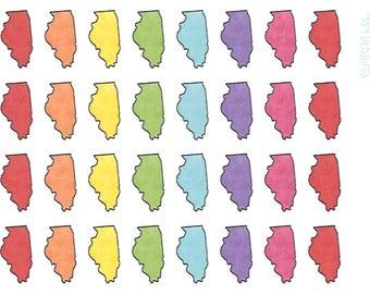Illinois Stickers || Planner Stickers