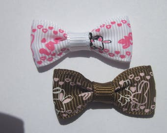 2 34 mm - (A38 patterned fabric bows