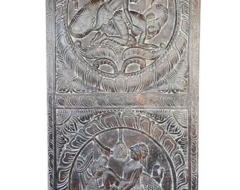 Love Posture Vintage Kamasutra Hand Carved Sculpture Art, Bedroom Decor, Wall Hanging,