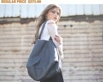 Sale, Black Leather Bag, Women Open Shoulder Bag, Tote Leather Bag - Lucy Bag