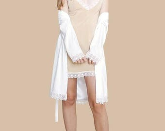 SEXY LACE SLIP Dress or Short Gown | Gorgeous Nightie | Layer with Our Pretty Robes | Exceptional Lace and Silk | Great for a Night Out