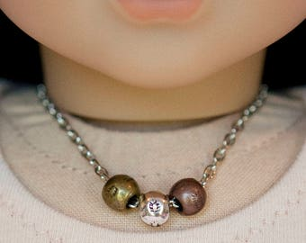 American Girl doll sized necklace - mixed metals
