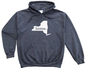 Homeland Tees New York Home Pullover Hoodie Sweatshirt