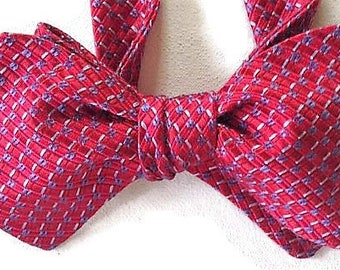 Silk Bow Tie for Men - Flash - One-of-a-Kind - Handcrafted, Self-tie - Free Shipping