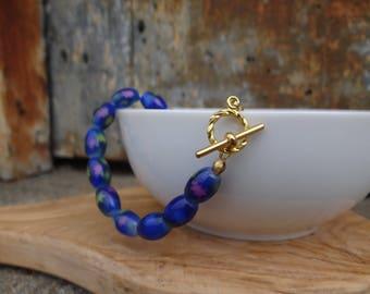 Blue Star Beaded Bracelet