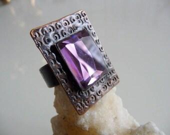 Ethno chic copper ring!