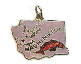 Vintage Washington State Charm