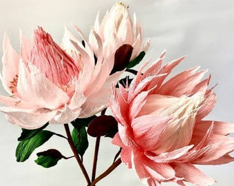 Wedding flowers,paper flowers,protea flower,protea king,flowers paper,bridal flowers,bouquet,wedding.