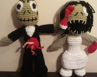 Bride and Groom zombies