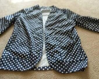 Plus size blouse -size 18/20 -blouse- top- vintage tops-vintage blouses- -plus size clothing- plus size-polka dot blouse