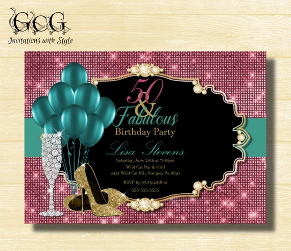 50th birthday invitation for women 50 and fabulous birthday high il570xn filmwisefo