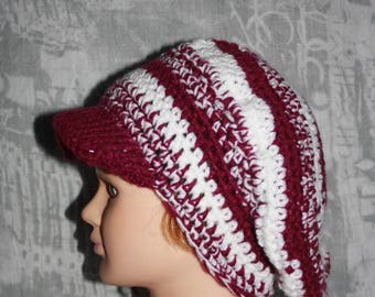 Purple and white, warm winter Hat