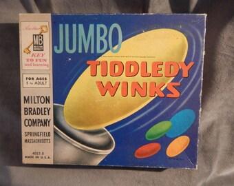 Vintage 1963 Jumbo Milton Bradley Tiddledy Winks Game