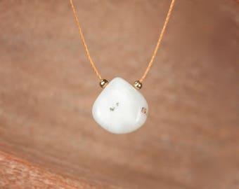 String necklace - solar quartz necklace - teardrop necklace - crystal necklace - quartz necklace